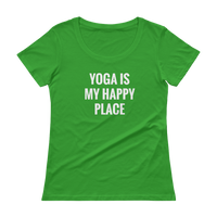 YOGA is My Happy Place - Ladies' Scoopneck T-Shirt