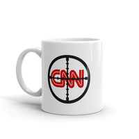 CNN With Cross Hairs FAKE NEWS Funny Coffee Mug