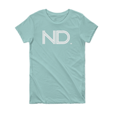 ND - State of  North Dakota Abbreviation Short Sleeve Women's T-shirt