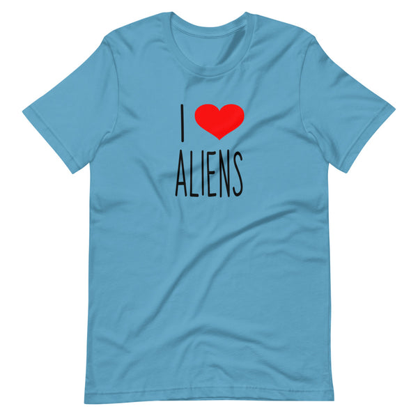I Love ALIENS Short-Sleeve Unisex T-Shirt