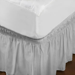 Home Details Wrap Around Bed Ruffle Queen/King in Beige (Case Pack of 24)