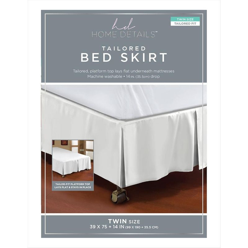 BED RUFFLE 5PLEAT TWIN AST CO (Case Pack of 24)
