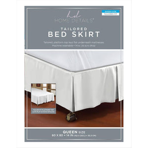 "BED RUFFLE 5PLEAT QUEEN 60X80""/14"" ASST. COLORS (Case Pack of 24)"
