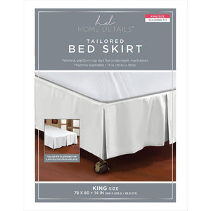 "BED RUFFLE 5PLEAT KING 78X80""/14"" ASST. COLORS (Case Pack of 24)"