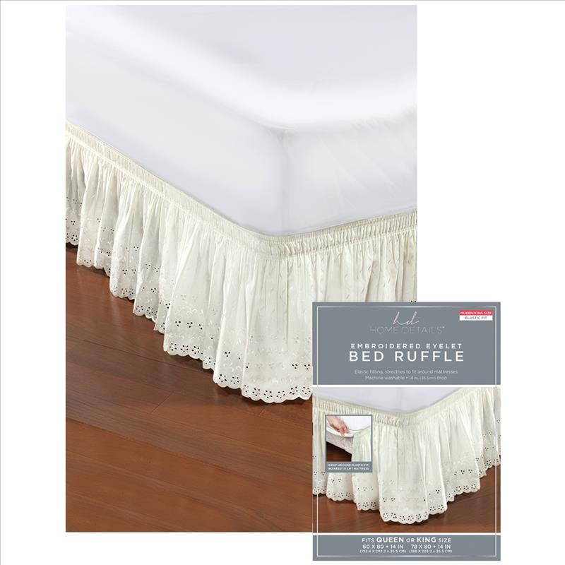 Eyelet Bed Ruffle (Case Pack of 24)