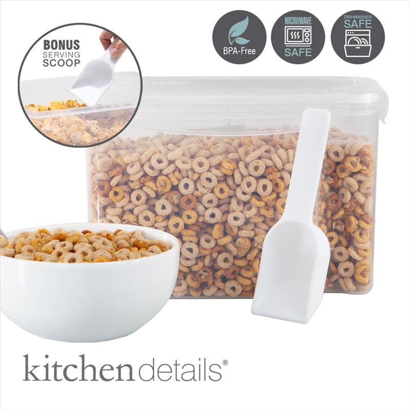 Kitchen Details Medium Size Airtight Cereal Container with Scooper (Case Pack of 12)