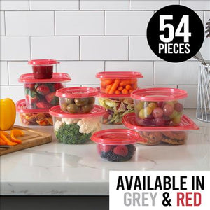 54pc  Food Storage Containers (Case Pack of 8)