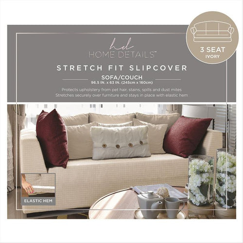 STRETCH SOFA SLIP COVER- IVORY- 96.5x63