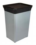 40L Waste Can - Silver (Case Pack of 6)