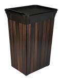 40L Waste Can - Wood (Case Pack of 6)