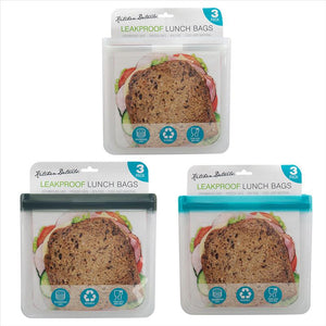 "3pc EVA Reusable Sandwich-Lunch Bag(8.27""x7.7"") (Case Pack of 12)"