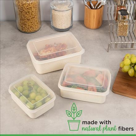 Simplify 6 Piece Natural Food Storage Containers (Case Pack of 36)