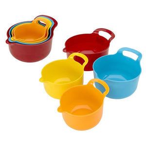 4PC MIXING BOWL SET- ASSORTED COLORS (Case Pack of 12)