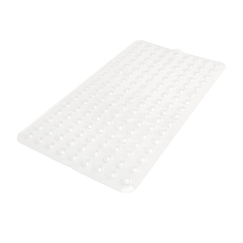 SANITIZED PVC BATH MAT- CLEAR- 15.5X27.5