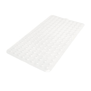 SANITIZED PVC BATH MAT- CLEAR- 15.5X27.5""