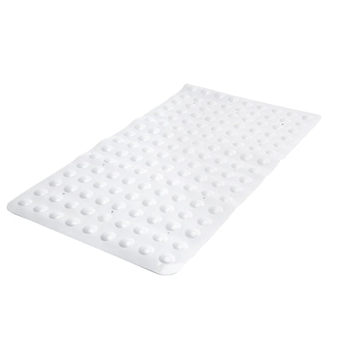 SANITIZED PVC BATH MAT- WHITE- 15.5X27.5
