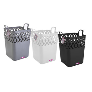 42L EASY CARRY SQUARE BASKET W/OPEN HANDLES- ASSORTED COLORS