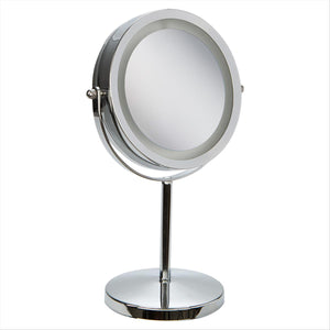"7"" LED Light up Vanity Standup Mirror  3X and 1x (Case Pack of 12)"