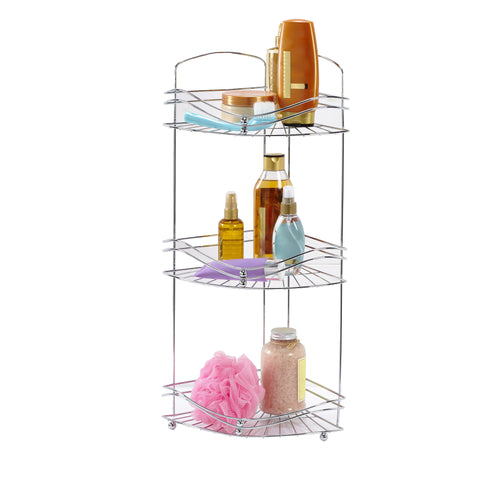 3 TIER CORNER RACK -CHROME- OCEAN (Case Pack of 8)