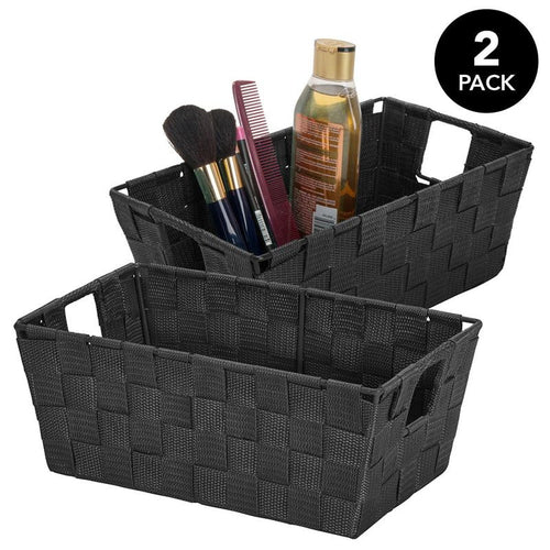 2pk-WOVEN STRAP SMALL SHELF TOTE 6.5x11.4x4.50
