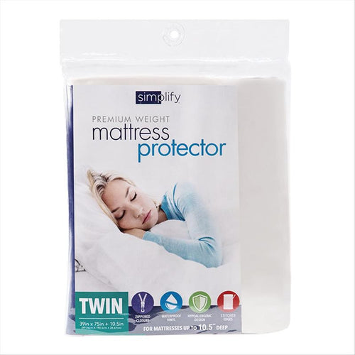 MATTRESS COVER ZIPPERED TWIN. (Case Pack of 12)