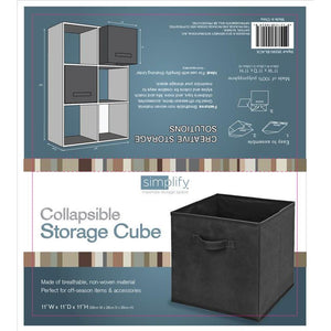 STORAGE BINS - BLACK-11X11X11 INCH
