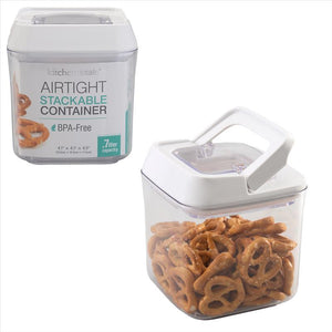 Airtight .7L Square Food Storage Container- BPA Free (Case Pack of 12)
