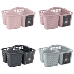 2 in 1 Portable Bath Tote W- 4 Compartments-Asst. (Case Pack of 12)