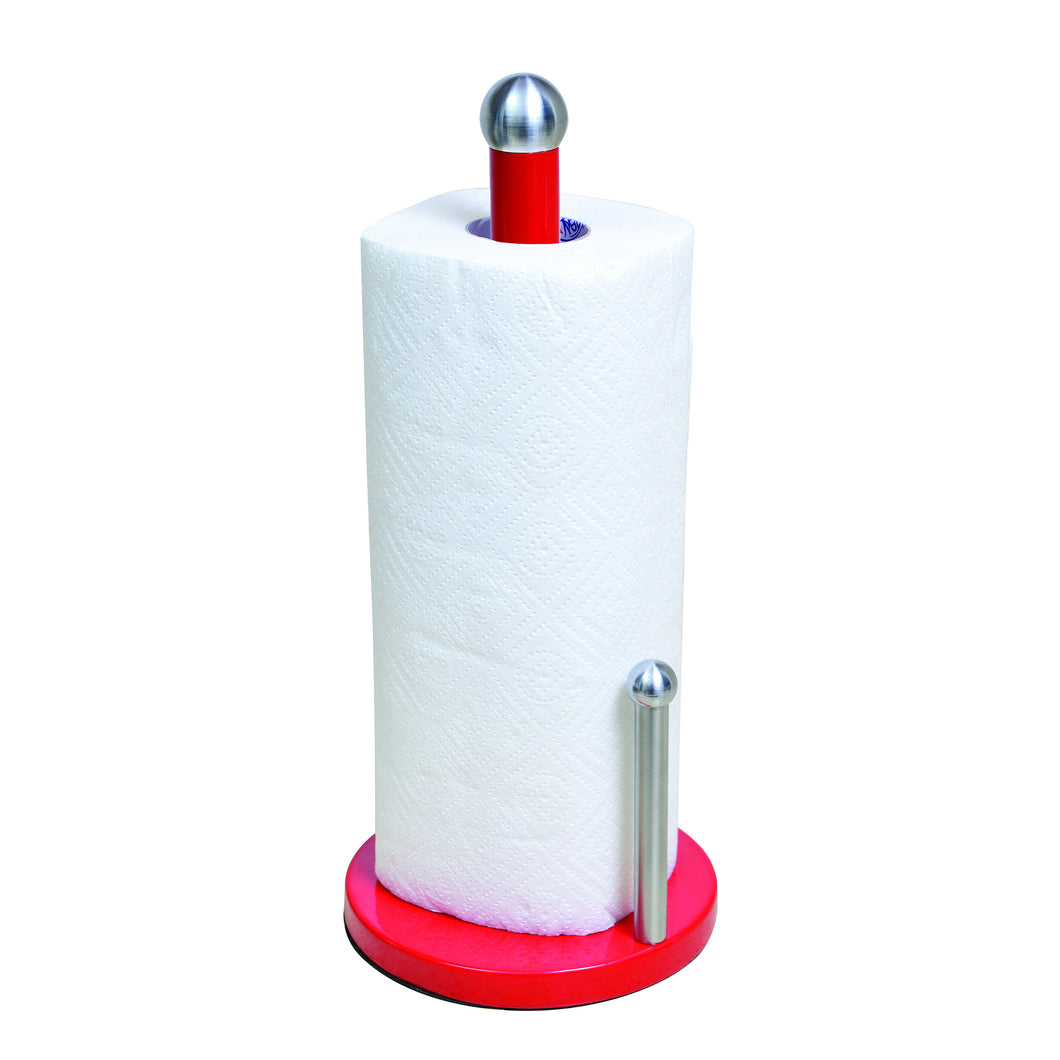 Paper Towel Holder w/ Dowel- Assembled- Red (Case Pack of 12)