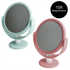 "7"" Vanity Rubberized Mirror  1x-10x magnification (Case Pack of 12)"