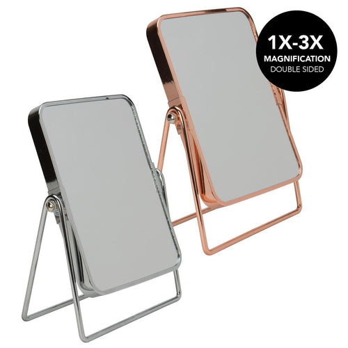8Inch Rectangle Shape Metal Frame Mirror-Asst. (Case Pack of 12)