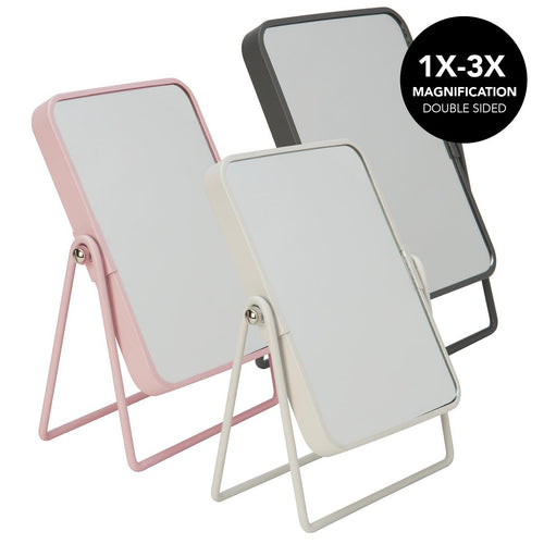 8Inch Rectangle Shape Metal Frame Mirror-Matte-Asst. (Case Pack of 12)