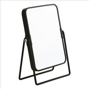 8Inch Rectangle Shape Metal Frame Mirror-Matte Black (Case Pack of 12)