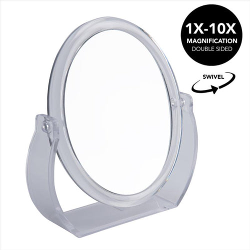 Home Details Swivel 10X Magnification Rubberized Vanity Mirror in Clear (Case Pack of 12)