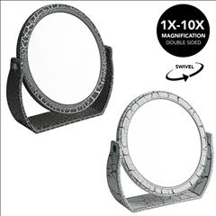 7 Inch Vanity Mirror  1x-10x magnification (Crackle) (Case Pack of 12)