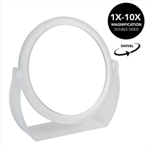 7 Inch Vanity Mirror  1x-10x magnification (Frost) (Case Pack of 12)
