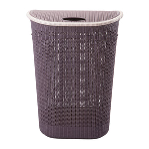 Sailor Knot Woven Laundry Hamper - Grey W/ White Trim