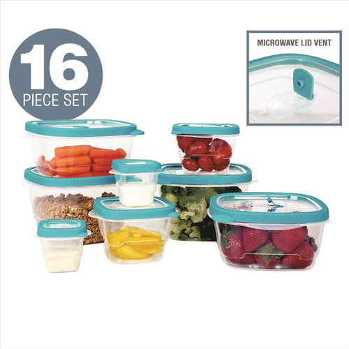 Kitchen Details 16 Piece Food Storage Container Set (Case Pack of 6)