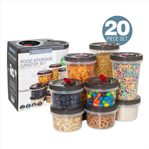 Kitchen Details 20 Piece Food Storage Canister Set (Case Pack of 4)