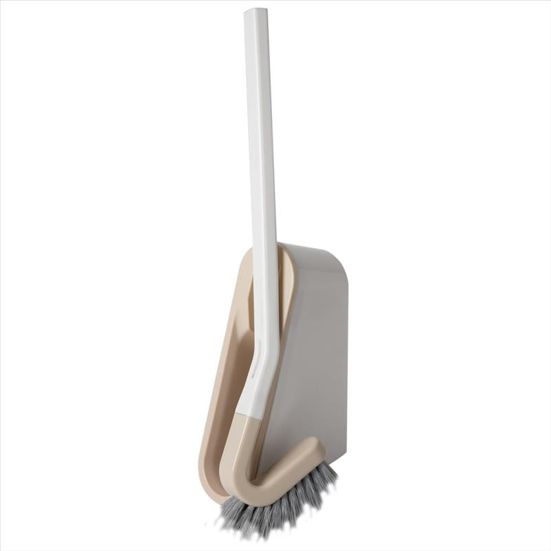 Bath Bliss Extra Slim Wall Mountable Toilet Brush in Beige (Case Pack of 12)