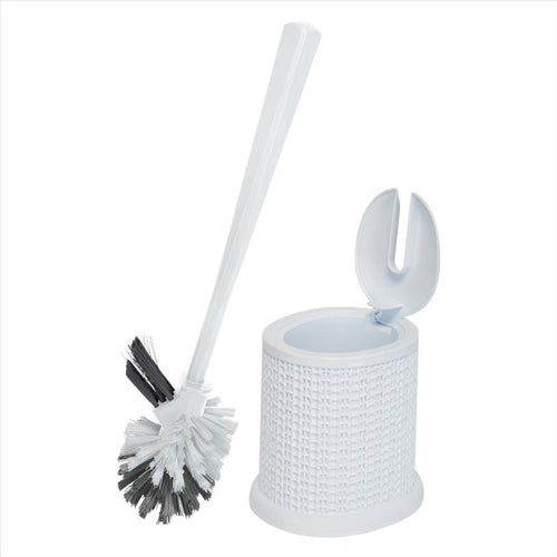 Bath Bliss Self Closing Lid Toilet Brush with Rim Scrubber in Sailor Knot Design (Case Pack of 12)