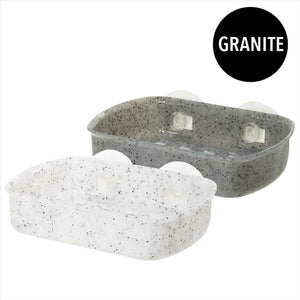Bath Bliss Granite Suction Soap Dish (Case Pack of 36)