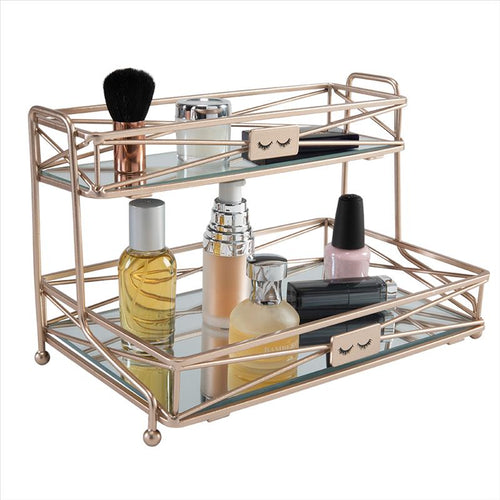 Home Details 2 Tier Vanity Tower in Rose Gold (Case Pack of 6)