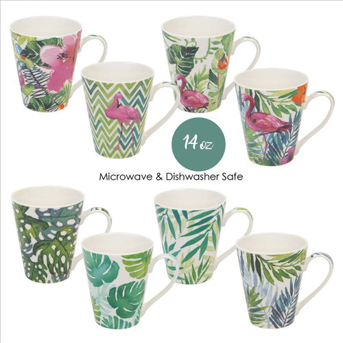 14 oz. Tropical -New Bone China Mug (Case Pack of 24)