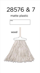Professional Cotton 350G Mop & 120CM Natural Wooden Mopstick (Case Pack of 20)