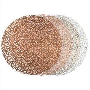 Petal Design Round Lacer Cut Placemat- 38x.01x38 (Case Pack of 48)