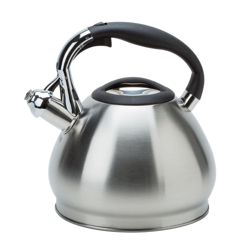WHISTLING KETTLE ENCAPSULATED 3.4L ONE TOUCH  SATIN  FINISH Induction bottom (Case Pack of 12)