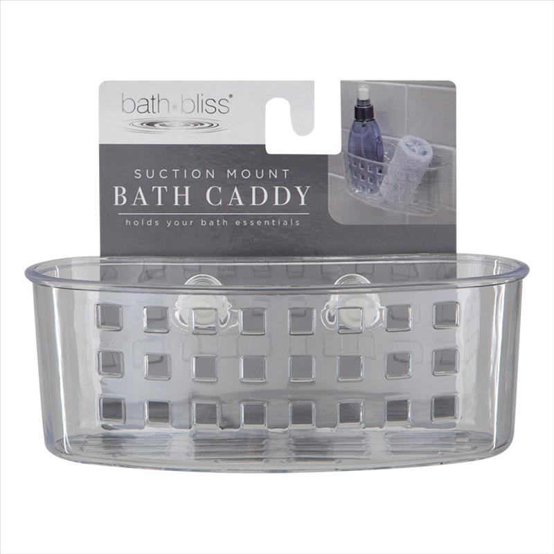 Bath Bliss Compact Suction Bath Basket (Case Pack of 36)