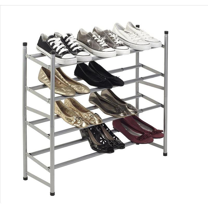 STACK AND EXTENDABLE SHOE RACK- SILVER