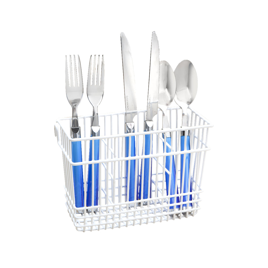 CUTLERY BASKET - WHITE (Case Pack of 24)